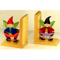 Squatting Pocket Pixie Bookends