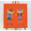 Two Standing Pocket Pixies Canvas Print